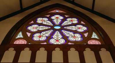 Contact us to see the stained glass at the Hubbard Free Library, Hallowell, Maine.