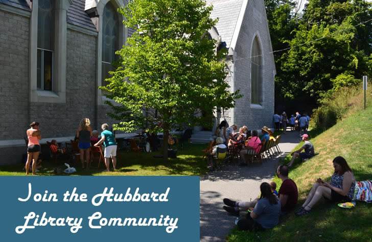 Join the community at Hubbard Free Library, Hallowell, Maine.