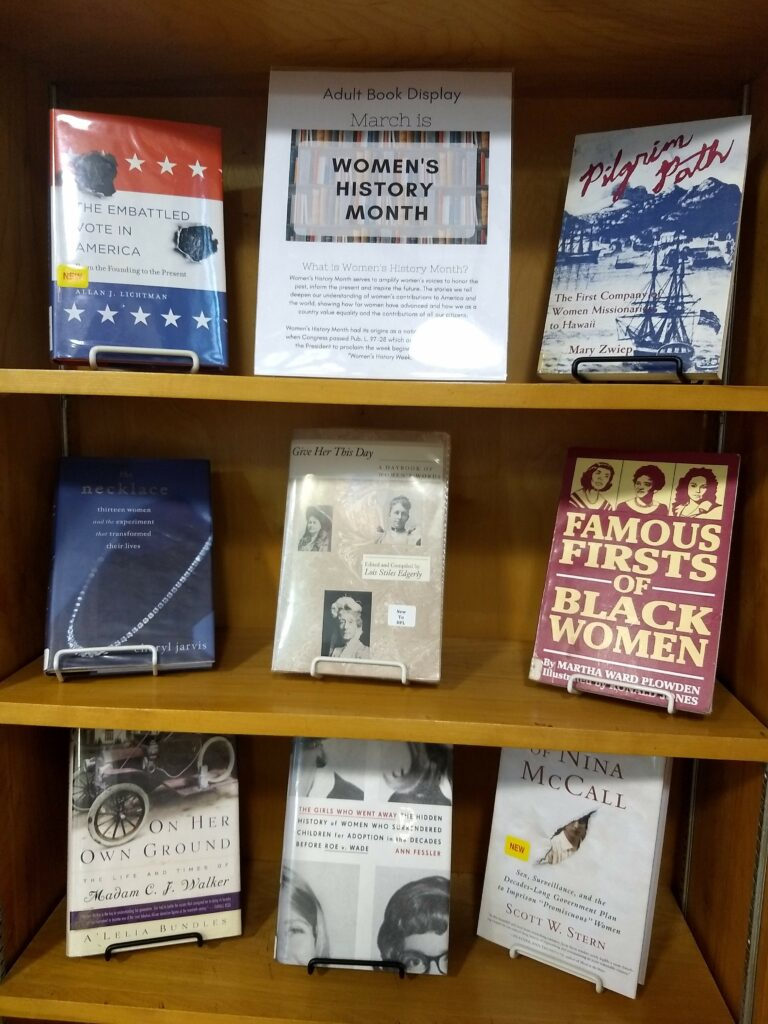 Adult Women's History Month Display