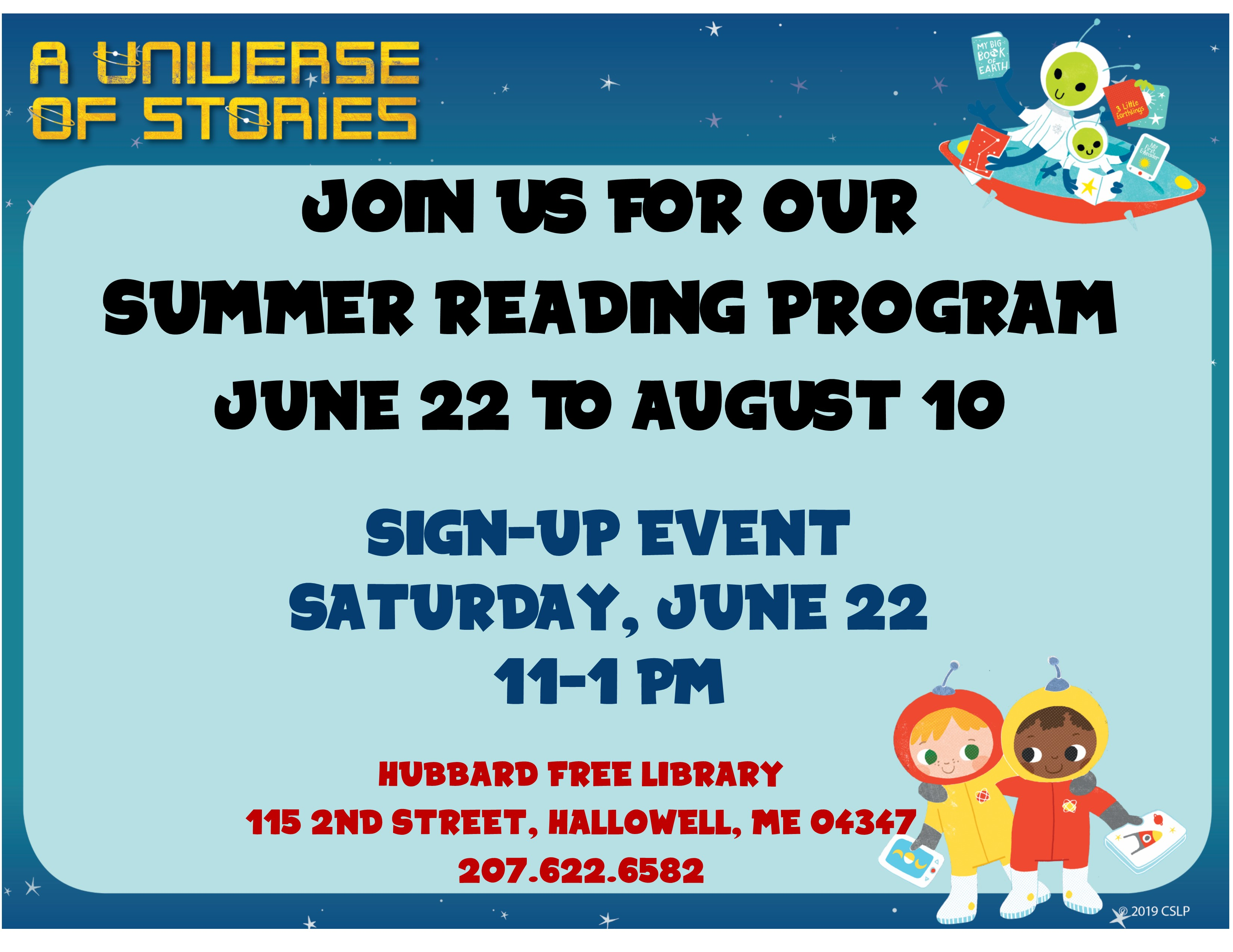 Sign-Up Event for Summer Reading Program | Hubbard Free Library